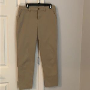 Khaki chino pants with side pockets